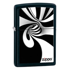 Зажигалка Zippo Classics Spiral Black/White Black Matte Zp28297