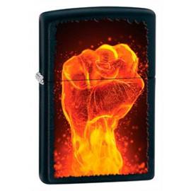 Зажигалка Zippo Classics Fire Fist Black Matte Zp28308