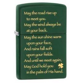 Зажигалка Zippo Classics Irish Blessing Green Matte Zp28479