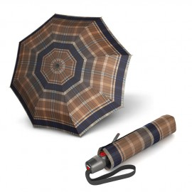Складной зонт Knirps T.200 Medium Duomatic Check Toffee Kn9532005380