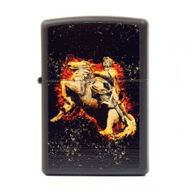 Зажигалка Zippo Classics Flaming Cossack Black Matte Zp218fc