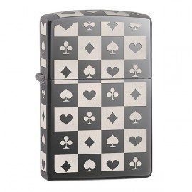 Зажигалка Zippo Classics Playing Card Suits Black Ice Zp29082