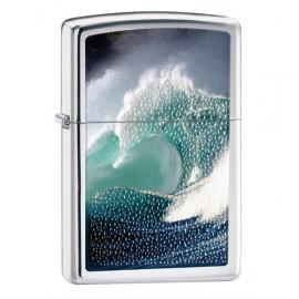 Зажигалка Zippo Classics Zippo Ocean Wave Polished Chrome Zp28178