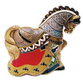 Фигурка De Rosa Rinconada Large Wildlife Конь Турнирный крас. (лим.вып. 1000 шт) Dr442r-47
