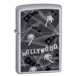Зажигалка Zippo Classics Hollywood Palm Tree Satin Chrome Zp21036
