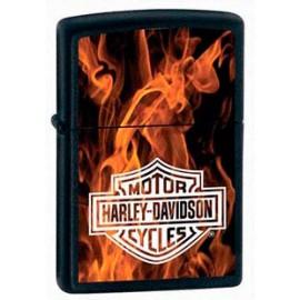 Зажигалка Zippo Classics H-D On Fire Black Matte Zp21040