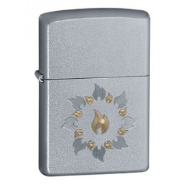 Зажигалка Zippo Classics Ring Of Fire Satin Chrome Zp21192