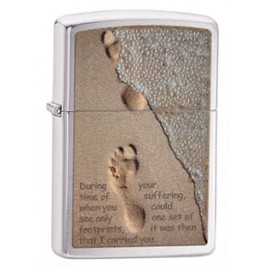 Зажигалка Zippo Classics Footprints In Sand Brushed Chrome Zp28180