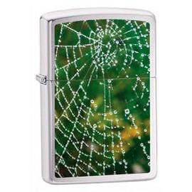 Зажигалка Zippo Classics Spider Web Rain Drops Brushed Chrome Zp28285
