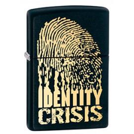 Зажигалка Zippo Classics Identity Crisis Black Matte Zp28295