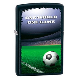 Зажигалка Zippo Classics One World One Game Football Black Matte Zp28301