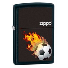 Зажигалка Zippo Classics Soccer Flames Black Matte Zp28302