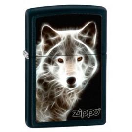 Зажигалка Zippo Classics White Wolf Black Matte Zp28303
