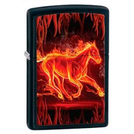 Зажигалка Zippo Classics Horse Flaming Black Matte Zp28304