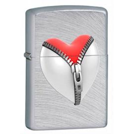 Зажигалка Zippo Classics Zip Heart Chrome Arch Zp28327