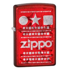 Зажигалка Zippo Classics Iced Stars Candy Apple Red Zp28342