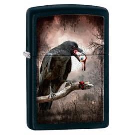 Зажигалка Zippo Classics Goth-Raven Eyeball Black Matte Zp28434