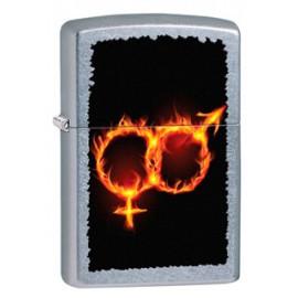 Зажигалка Zippo Classics Man Woman Fire Street Chrome Zp28446