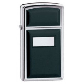 Зажигалка Zippo Slim Ultralite Black Emblem High Polish Crome Zp1655