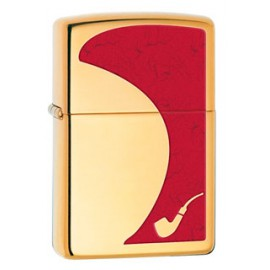 Зажигалка Zippo Pipe Red High Polish Brass Zp28322