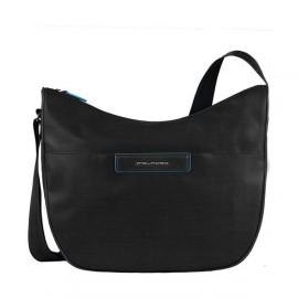 Сумка женская Piquadro AKI/Black наплечная бол. с чехлом д/iPad/iPad Air (39,5x31x16) BD3290AK_N
