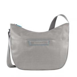 Сумка женская Piquadro AKI/Grey наплечная бол. с чехлом д/iPad/iPad Air (39,5x31x16) BD3290AK_GR
