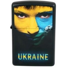 Зажигалка Zippo Classics Ukraine Soccer Face Black Matte Zp218us