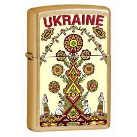 Зажигалка Zippo Classics Ukraine Tree Gold Dust Zp207gut