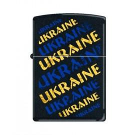 Зажигалка Zippo Classics Ukraine Grunge Black Matte Zp218ug