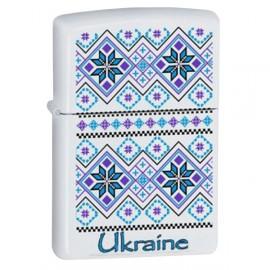 Зажигалка Zippo Classics Ukraine Pattern 2 White Matte Zp214up2