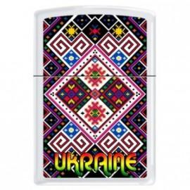 Зажигалка Zippo Classics Ukraine Pattern 1 White Matte Zp214up1
