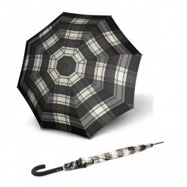 Зонт трость Knirps Stick Automatic Long Check Black & White Kn79934528