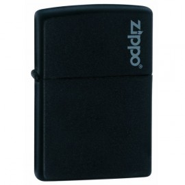 Зажигалка Zippo Classics w/Zippo Logo Black Matte Zp218zl