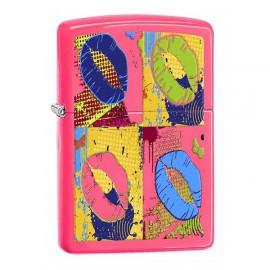 Зажигалка Zippo Classics Pop Lips Neon Pink Zp29086