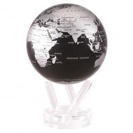 Глобус Mova самоврощающийся Политическая карта Д153, черный с серебром MG-6-SBE