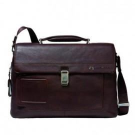Портфель Piquadro VIBE/D.Brown на 2 отдел. с фронт. карманом и с отдел. д/ноутбука (42x30x13) CA1045VI_TM