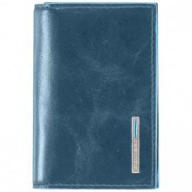 Визитница Piquadro BL SQUARE/P.Blue для своих визиток на кнопке (10,8x7,5x1,5)