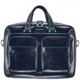 Портфель Piquadro BL SQUARE/N.Blue дворучн. с отдел. для iPad/ноутбука (39x28,5x10,5) CA2849B2_BLU2
