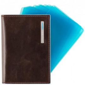 Кредитница коричневая Piquadro Blue Square (7,5х10) PP1661B2_MO